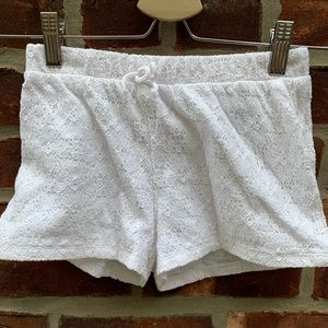 H&M white lace shorts as 8-10 y girls